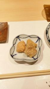 9.鶏のおかき揚げ